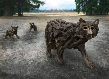 Quadra Alex Witcombe driftwood-artist-wolves-