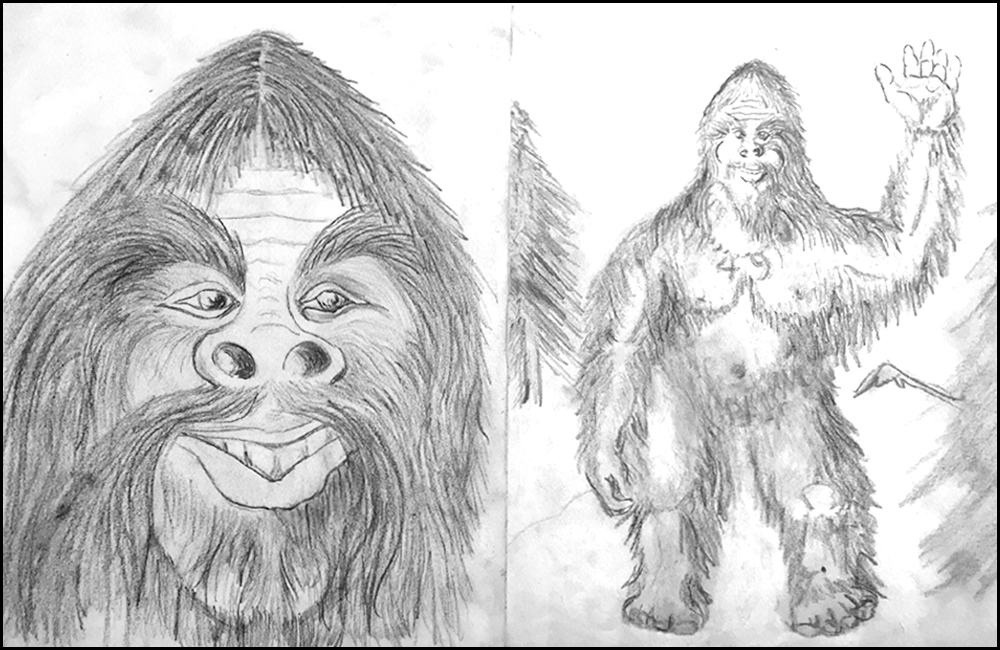 Forest Govedare David sasquatch-original-sketch-book-drawings