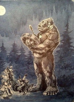 sasquatch ceremony painting