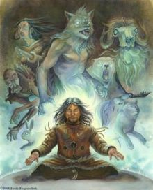 shamanic--native-american-mythology-inuit-art