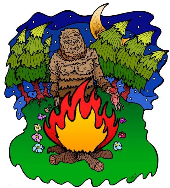 MacGregor might not be Bigfoot, but encountering him in his full regalia is still a sight to behold. (Art:  Trav )